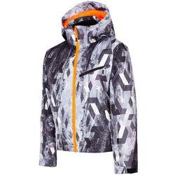 70beb187b3051 Kurtka narciarska dla dużych dzieci (chłopców) JKUMN403 - multicolor  allover. 4F
