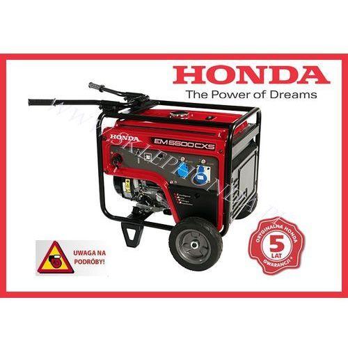 Agregat prądotwórczy HONDA EM 5500 CXS i-AVR (5,5kW) + OLEJ + DOSTAWA GRATIS