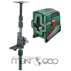Laser krzyżowy Bosch PCL 20 Set + statyw rozporowy Bosch TP 320
