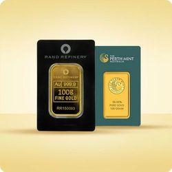 100 g Sztabka złota CertiCard
