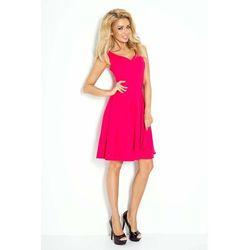 9dae8f6273 suknie sukienki cukierkowa rozkloszowana sukienka szaro pudrowa (od ...