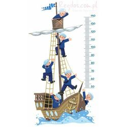 Naklejka Miarka wzrostu Marynarze na morzu miernik