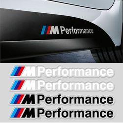 2PCS Styling M Performance Car Body Sticker M Logo Decals for BMW M3 M5 X5 X6 E36 E39 E46 E30 Exterior & Interior Decoration