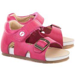 NATURINO Cerato Spazz - Różowe Skórzane Sandały Dziecięce - 0011500545.01.9103