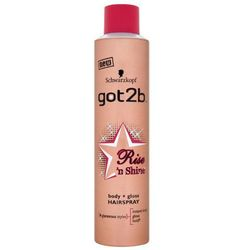 SCHWARZKOPF Got2b Rise'n Shine Body + Gloss Hairspray lakier do wlosow zapewniajacy objetosc i polysk Force 4 300ml