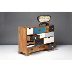 Kare design :: Komoda Babalou (14 szuflad) - (14 szuflad) ||biały ||drewno ||czarny matowy ||niebieski ||zielony, brązowy, niebieski, biały, czarny