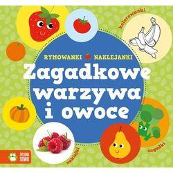 Zagadkowe warzywa i owoce Rymowanki-Naklejanki