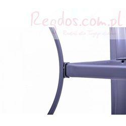 Stół ogrodowy szklany - Stolik metalowy - 150 x 89 x 72 cm