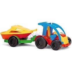 Auto z przyczepą i motorówką Color Cars Wader