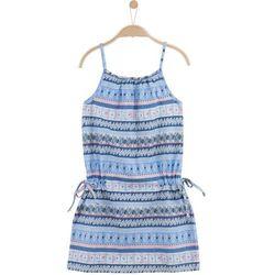 Letnia sukienka we wzorzysty deseń dla dziewczynki