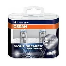 Żarówka OSRAM - H1 55W P14.5s 12V Halogen Night Breaker Unlimited - 2 sztuki