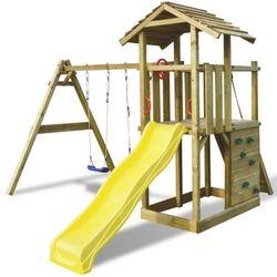 vidaXL Zewnętrzny zestaw do zabawy dla dzieci z huśtawką i zjeżdżalnią Darmowa wysyłka i zwroty