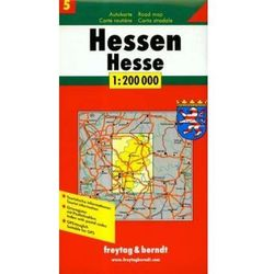 Niemcy część 5 Hessia mapa 1:200 000 Freytag & Berndt (opr. twarda)