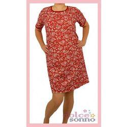 Koszula nocna ciążowa i do karmienia - Kwiecisty Czerwony