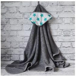 Bambusowy Ręcznik Dziecięcy z Kapturkiem, Star / Szary, 90x130 cm, CAMPHORA STUDIO