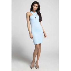 b1c0640868 suknie sukienki sukienka bodycon z sznurkami na dekolcie - porównaj ...