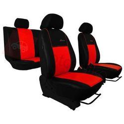 Pokrowce samochodowe EXCLUSIVE - POK-TER Skórzane Czerwone BMW Seria 1 F20/F21 od 2011 - Czerwony