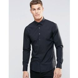 Calvin Klein Skinny Smart Shirt With Stretch - Black