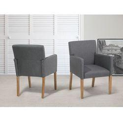 Krzeslo do jadalni, kuchni szare - fotel tapicerowany - ROCKEFELLER