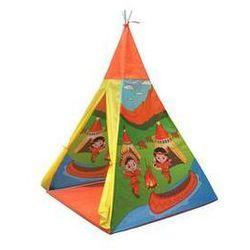Namiot dla dzieci Acra ST09/2 teepee - indiański motyw Żółty/Zielony/Pomarańczowy