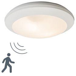 Lampa sufitowa Umberta okrągła biała z czujnikiem ruchu