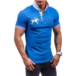 Niebieska koszulka polo męska Denley 3213 - NIEBIESKI Spodnie dresowe 39,99 06.10.2015 (-20%)