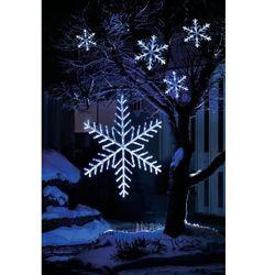 Płatek śniegu 5-pkt. LED zimna biel 4m