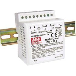 Zasilacz na szynę DIN Mean Well DR-4524, 24 V/DC, 2 A, 48 W, 1 x