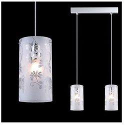 Żyrandol LAMPA wisząca SENSE MDM1673-2 Italux szklana OPRAWA sufitowa LISTWA zwis do kuchni wzorki biały
