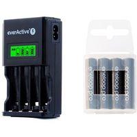 ładowarka everActive NC-450 Black + 4 x R03/AAA Panasonic Eneloop Pro 950 (box)
