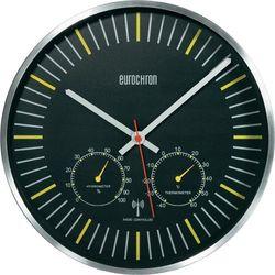 Zegar ścienny z termometrem i wilgotnościomierzem EFWU 6402 analogowy Eurochron HD-WRC039L Sterowany radiowo, (ØxG) 30.5 cmx5 cm