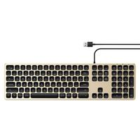 SATECHI ALUMINUM WIRED USB KEYBOARD Gold | iMac