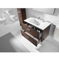 Zestaw łazienkowy Unik 80 cm z szufladami Roca Victoria A855852222 Orzech