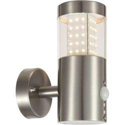 Zewnętrzna LAMPA elewacyjna DEVIAN 34014S Globo OPRAWA ścienna LED 11,5W z czujnikiem ruchu IP44 outdoor tuba szara