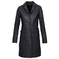 Płaszcz skórzany bonprix czarny