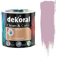 Farba lateksowa Clean&Color Dekoral Satynowy wrzos 2,5L