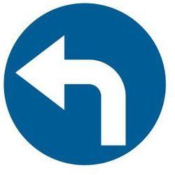 Nakaz jazdy w lewo (skręcanie za znakiem)