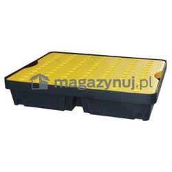 Wanna wychwytowa z żółtą kratownicą o pojemności 40 l, wym. 800 x 600 x 155 mm