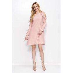 c99af647435c borowkowa sukienka w ksztalcie litery a z koronkowa lamowka w ...