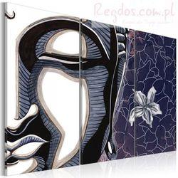 Obraz - Tryptyk, Budda i kwiat lotosu