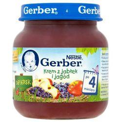 GERBER 125g Deserek Krem z jabłek i jagód po 4 miesiącu
