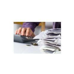 Foto naklejka samoprzylepna 100 x 100 cm - Rachunki w papierowej paznokci z ręki wyliczeń