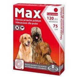 Selecta HTC Max Obroża dla psa przeciw pchłom i kleszczom czerwona 75cm