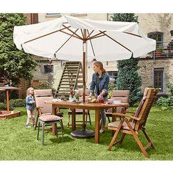 Duży parasol ogrodowy, kremowy