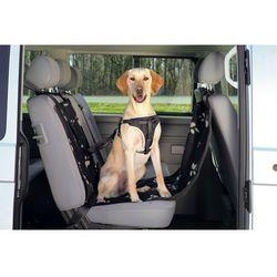 Mata samochodowa Trixie dla psa czarna w beżowe łapki