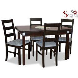 Zestaw DUNAJ III 4 krzesła i stół 70x120/150