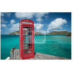 Plakat Budka telefoniczna w British Virgin Islands w Marina Cay