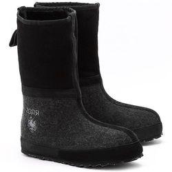 ZDAR Igor - Czarne Filcowe Śniegowce Unisex