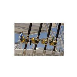 Foto naklejka samoprzylepna 100 x 100 cm - Cztery duże wędki i kołowrotki gry