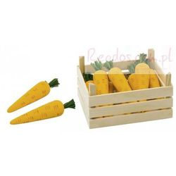 Warzywa w skrzynce, marchewki, 10 elementów.